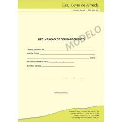Declaração Médica de Comparecimento Colorida - Cod: M109