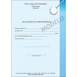 Declaração de Comparecimento Colorida para Dentistas - Cod: 006