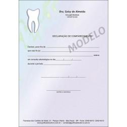 Declaração de Comparecimento Colorida para Dentistas - Cod: 014