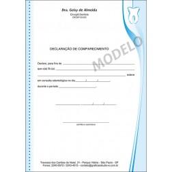 Declaração de Comparecimento Colorida para Dentistas - Cod: 029