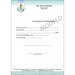 Declaração de Comparecimento Colorida para Dentistas - Cod: 035