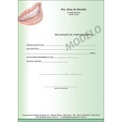 Declaração de Comparecimento Colorida para Dentistas - Cod: 038