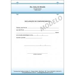 Declaração de Comparecimento Colorida para Dentistas - Cod: 047