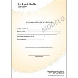 Declaração de Comparecimento Colorida para Dentistas - Cod: 061