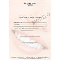 Declaração de Comparecimento Colorida para Dentistas - Cod: 063