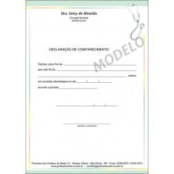 Declaração de Comparecimento Colorida para Dentistas - Cod: 102