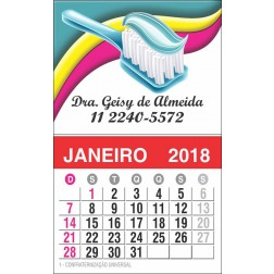 Imãs de Geladeira com Calendário para Dentistas - 025 C-CAL
