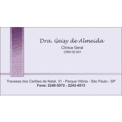 Cartão de Visita Médico com Verniz - Cod: M010