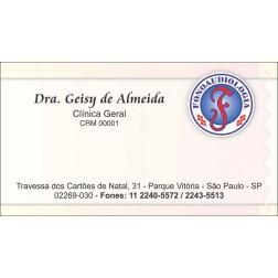 Cartão de Visita Médico com Verniz - Cod: M017