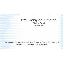 Cartão de Visita Médico com Verniz - Cod: M018