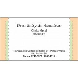 Cartão de Visita Médico com Verniz - Cod: M064