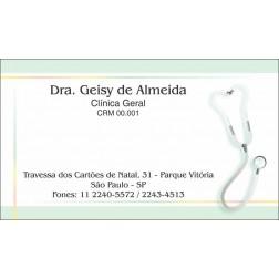 Cartão de Visita Médico com Verniz - Cod: M102