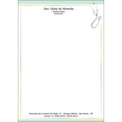 Receituário Médico Colorido - Cod: M102