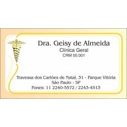 Cartão de Visita Médico com Verniz - Cod: M103