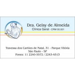 Cartão de Visita Médico com Verniz - Cod: M104