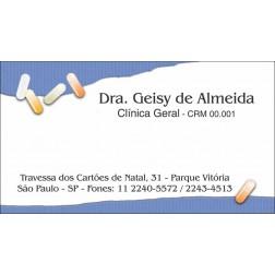 Cartão de Visita Médico com Verniz - Cod: M105