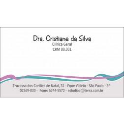 Cartão de Visita Médico com Verniz - Cod: M107