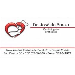 Cartão de Visita Médico com Verniz - Cod: M108