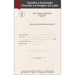 Declaração de Comparecimento para Médicos Reciclado / Eco