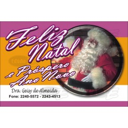 Postais de Natal Personalizados - 100 Unidades - Cod: N033
