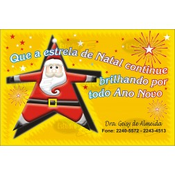 Postais de Natal Personalizados - 100 Unidades - Cod: N044