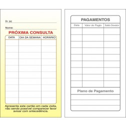 Cartões de Próxima Consulta e Pagamento Amarelo