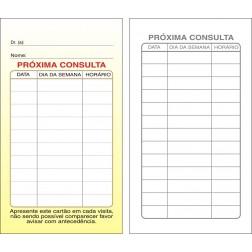 Cartões de Próxima Consulta Amarelo