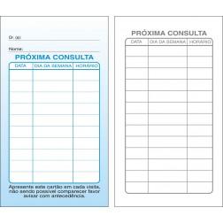 Cartões de Próxima Consulta Azul