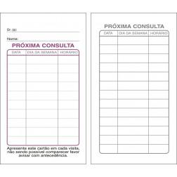 Cartões de Próxima Consulta Branco