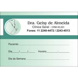 Blocos de Próxima Consulta para Médicos - Cod: M015 Verde