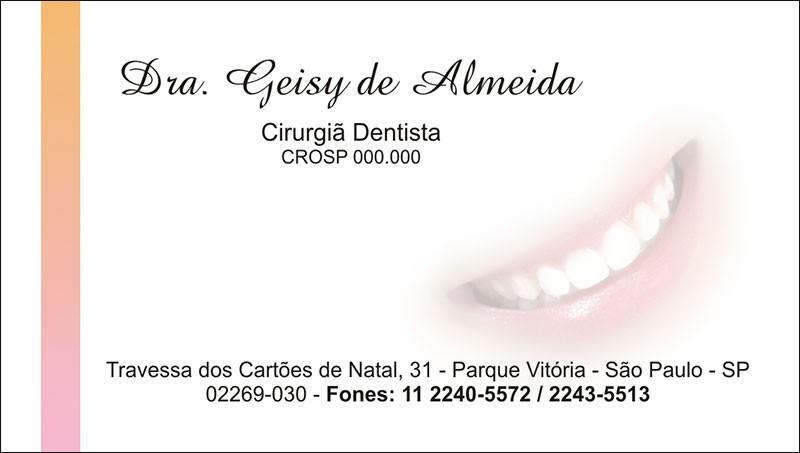 Cartão de Visita com Verniz - Cod: 002