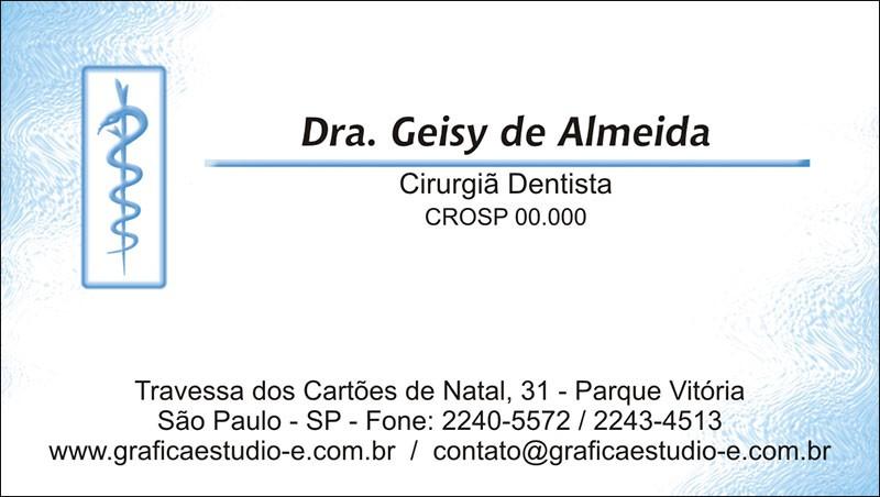 Cartão de Visita com Verniz - Cod: 003