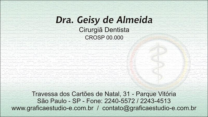 Cartão de Visita com Verniz - Cod: 005