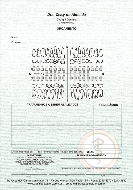 Orçamento Colorido - Modelo A - Cod: 005
