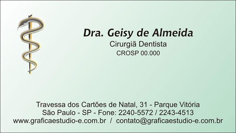 Cartão de Visita com Verniz - Cod: 007