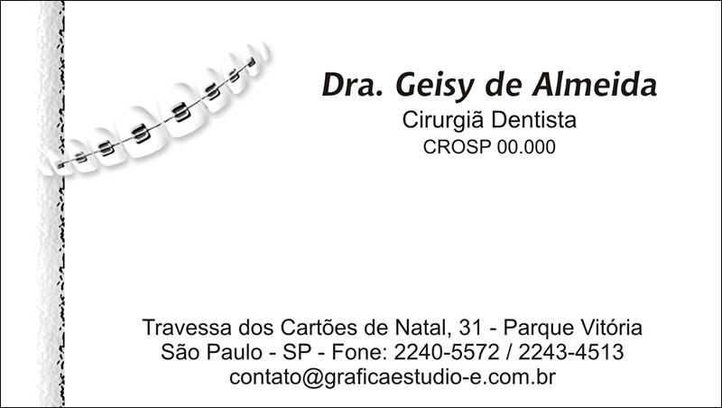 Cartão de Visita com Verniz - Cod: 008