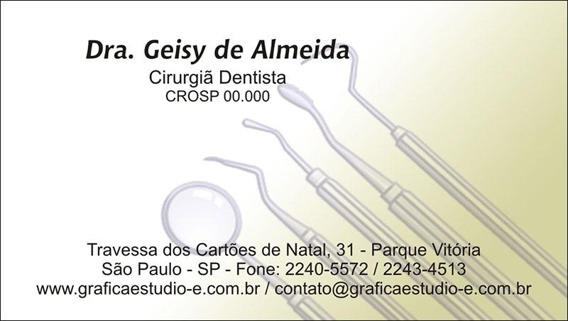 Cartão de Visita com Verniz - Cod: 009