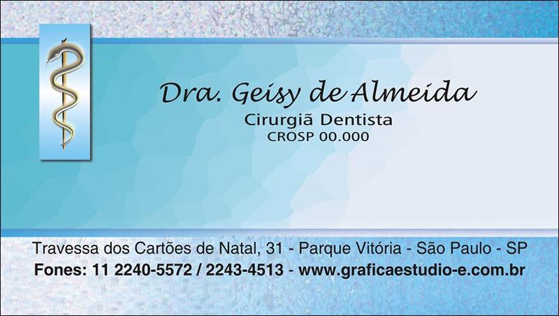 Cartão de Visita com Verniz - Cod: 012