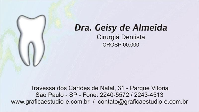 Cartão de Visita com Verniz - Cod: 014