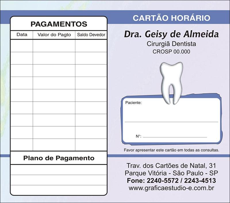 Carteirinha de Próxima Consulta e Pagamento Personalizado - Cod: 014