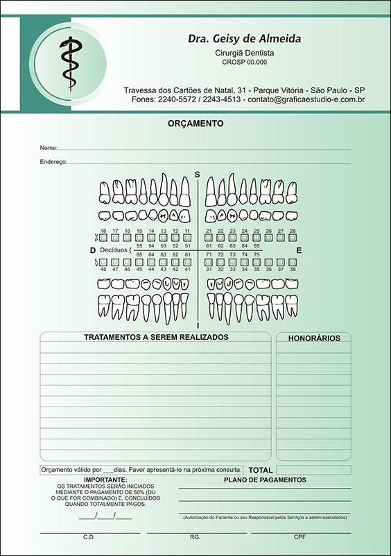 Orçamento Colorido - Modelo A - Cod: 015 Verde