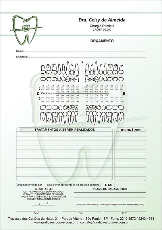 Orçamento Colorido - Modelo A - Cod: 021 Verde