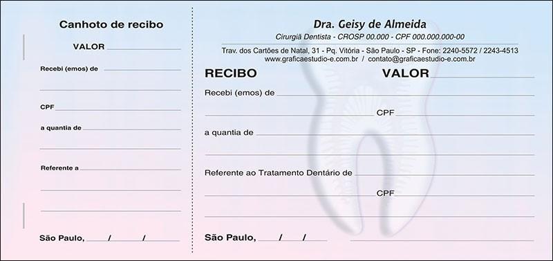 Recibo com Canhoto Colorido - Cod: 023