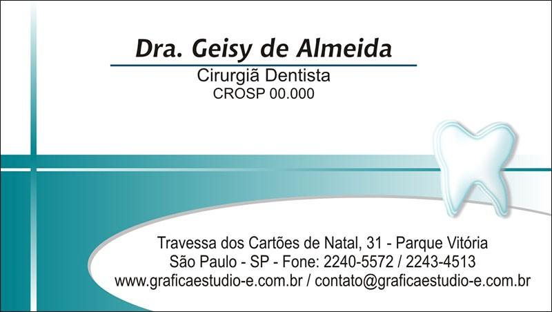 Cartão de Visita com Verniz - Cod: 028