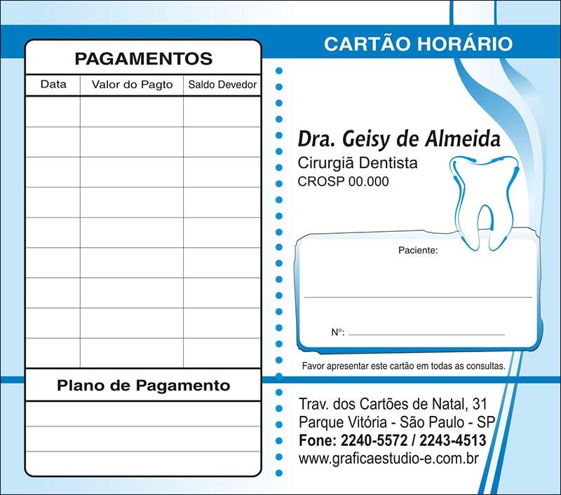 Carteirinha de Próxima Consulta e Pagamento Personalizado - Cod: 029