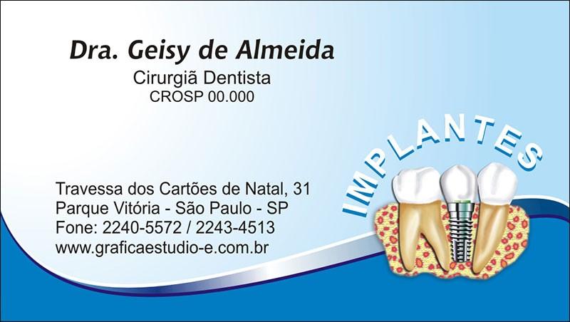 Cartão de Visita com Verniz - Cod: 037