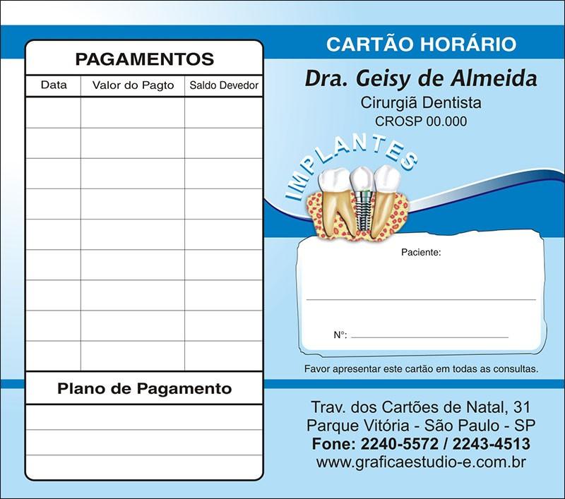 Carteirinha de Próxima Consulta e Pagamento Personalizado - Cod: 037