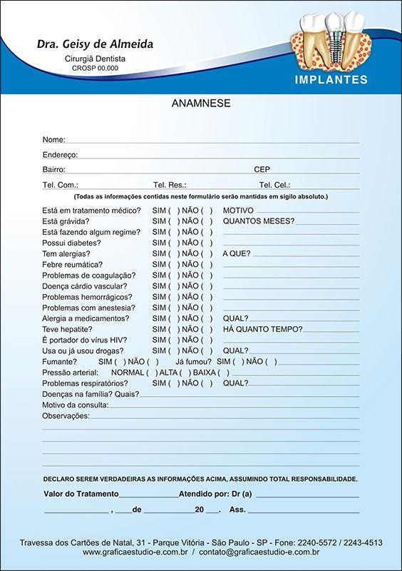 Anamnese Colorida - Cod: 037