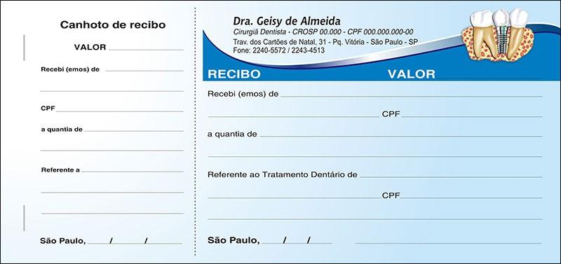 Recibo com Canhoto Colorido - Cod: 037