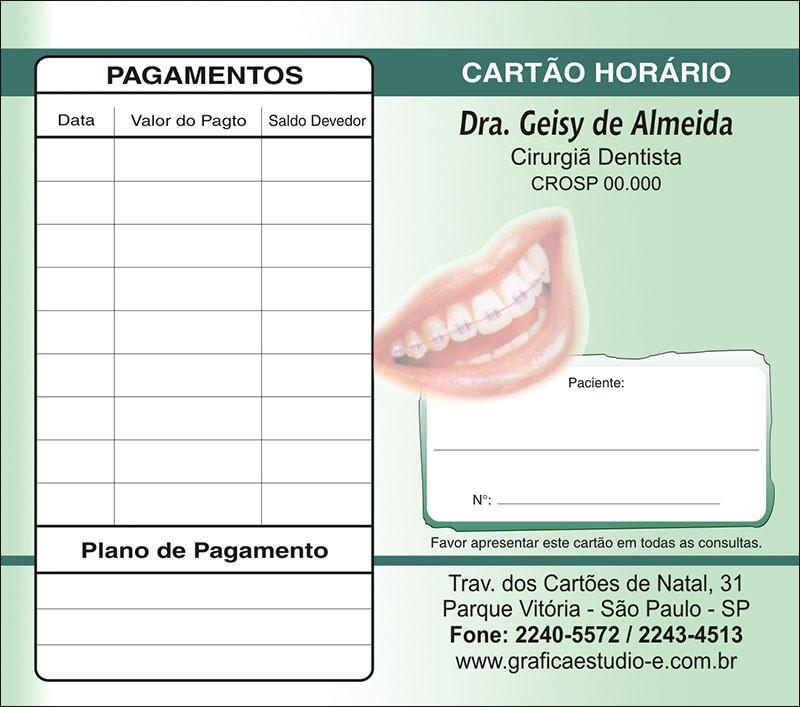 Carteirinha de Próxima Consulta e Pagamento Personalizado - Cod: 038